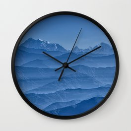 Blue Hima-layers Wall Clock