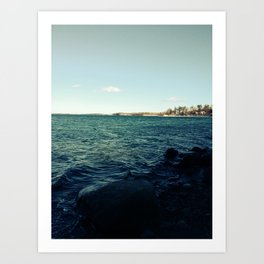 Winter Bay Art Print
