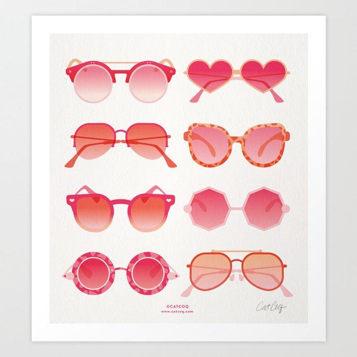 Sunglasses Collection – Pink Ombré Palette Art Print