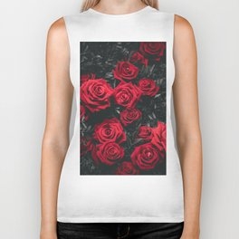 Red Roses (Color) Biker Tank