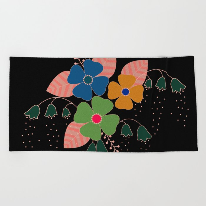 flower..9 Beach Towel