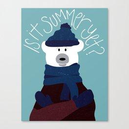 Polar Bear by Darah King Canvas Print