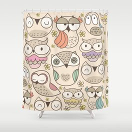 The owling Shower Curtain