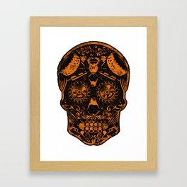 Strongman Sugar Skull, Dia De Los Deadlift Framed Art Print