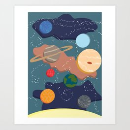 Offset Solar System Art Print