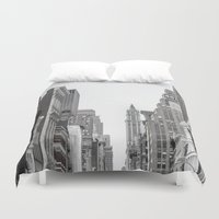 broadway Duvet Covers featuring Broadway - NY by Basma Gallery