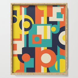 Funky Geometry (Modern Vibrant Color Palette) Serving Tray