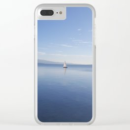 Sailboat on Beautiful Blue Waters of Lake Geneva Clear iPhone Case