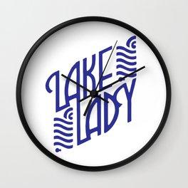 Lake Lady Logo (blue) Wall Clock