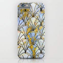Fairytale Gold Dust Sprinkled on Art Deco Pattern iPhone Case