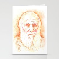darwin Stationery Cards featuring CHARLES DARWIN by willeyworks