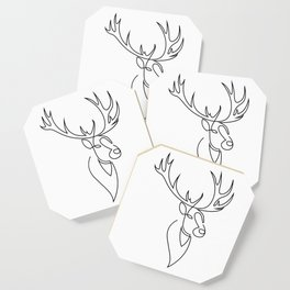stag - one line art Coaster
