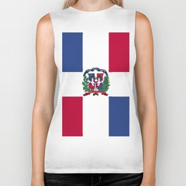 Dominican Republic flag emblem Biker Tank