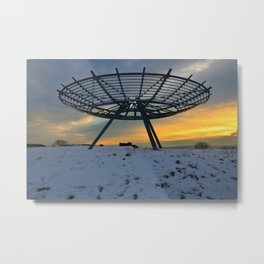 The Halo Metal Print