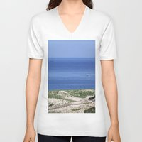 cape cod V-neck T-shirts featuring Cape Cod by Heidi Ingram