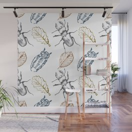 Bugs and leaves Wall Mural
