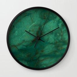 Hunter Green Marble Wall Clock