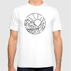 Day MEDIUM White Mens Fitted Tee