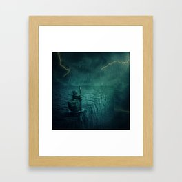 At the edge of Nothing Framed Art Print