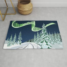 Ice drive in Lapland Rug
