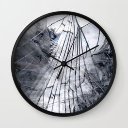Abstract Mirrored Ghost Wall Clock
