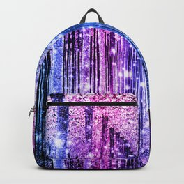 Magical Forest : Aqua Periwinkle Purple Pink Ombre Sparkle Backpack