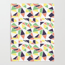 Seamless mosaic pattern triangles Poster