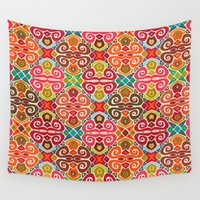 fall Wall Tapestries featuring FALL by Sharon Turner