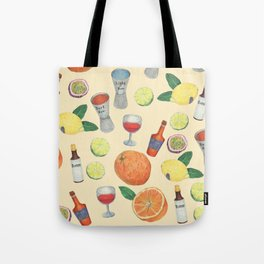 cocktail recipe pattern _ zombie Tote Bag