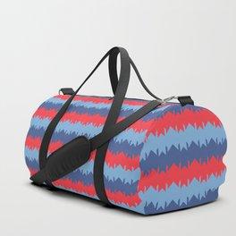 Red Blue Indigo Chevron Duffle Bag
