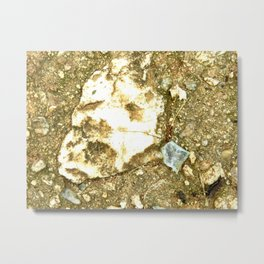 A Face In the Pavement Metal Print