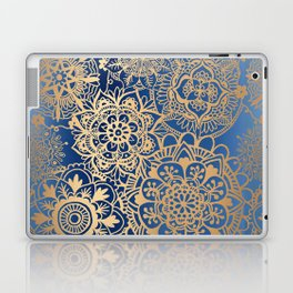 Blue and Gold Mandala Pattern Laptop & iPad Skin