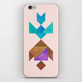 Tangram Fish in love iPhone Skin