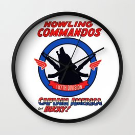 Howling Commandos CAP&BUCKY Wall Clock