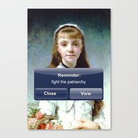 patriarchy Canvas Prints featuring Fight The Patriarchy by Lolita Bandita