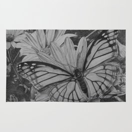 Monarch over Aster Rug