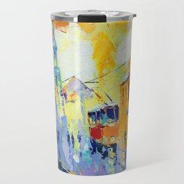 cubism urban Travel Mug