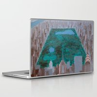 central park Laptop & iPad Skins featuring central park by cityclectic design