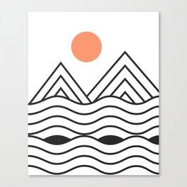 Sunset Minimalist Canvas Print