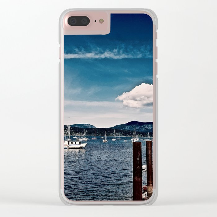 Cowichan Bay Marina, Cowichan Bay B.C. Canada Clear iPhone Case