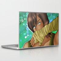 korra Laptop & iPad Skins featuring Korra - Spitfire by BlackPhoenixFeathers