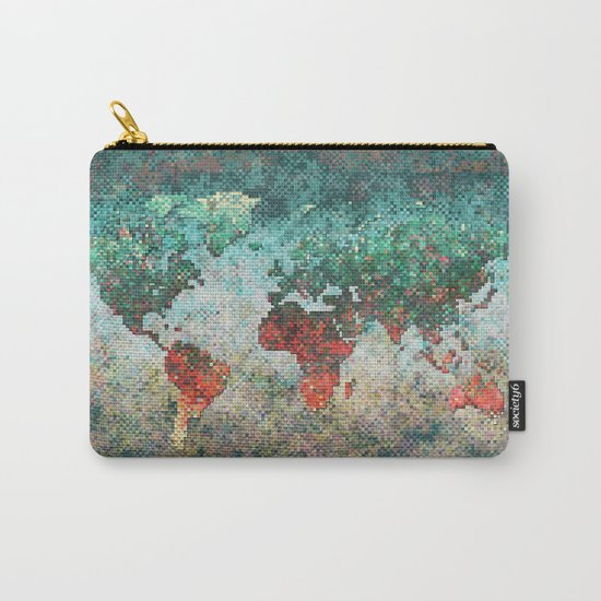 World Map Square Carry-All Pouch