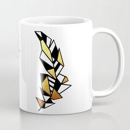Gold Feather Design Coffee Mug