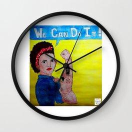 Black Rosie the Riveter Wall Clock