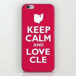 Keep Calm and Love CLE iPhone Skin