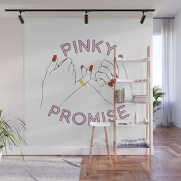 Pinky Promise Hands Love Wall Mural