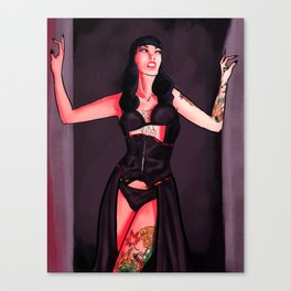 Pin Up Girl Canvas Print