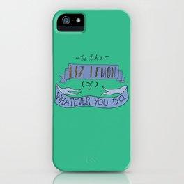 Liz Lemon iPhone Case