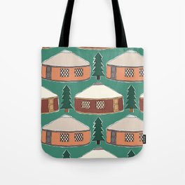 Cozy Yurts -n- Pines Tote Bag