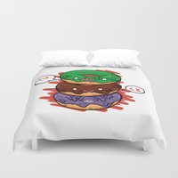 donut Duvet Covers featuring Donut by jeff'walker